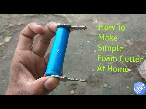 How To Make Simple Foam Cutter At Home From Keys