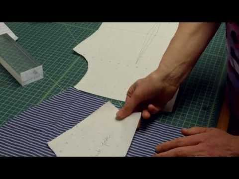 How to draft a back yoke for fitted shirt