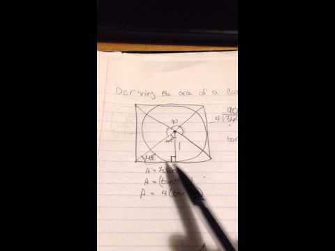 Deriving the area of a Circumscribed polygon