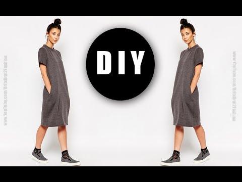 DIY T-shirt dress w/ pockets