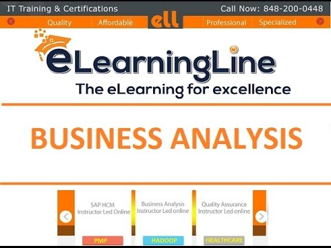 Business Analyst Training for beginners- Requirement Elicitation by ELearningLine @848-200-0448