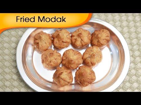 Fried Modak - Sweet Coconut Dumpling - Ganesh Festival Special Recipe By Ruchi Bharani