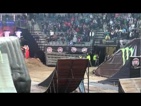 Fiat Punto car jump in O2 Arena