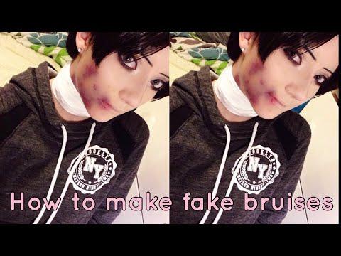 How to make fake bruises