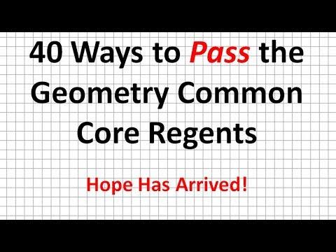 How to Pass the Geometry Common Core Regents   40 Ways