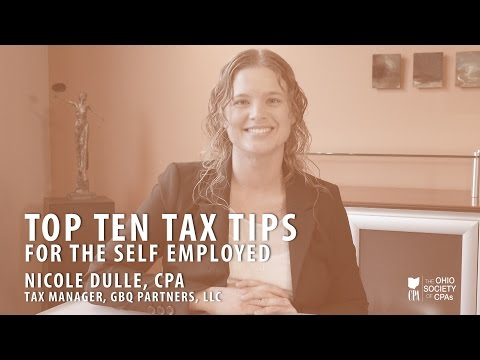 Top 10 tax tips for the self employed