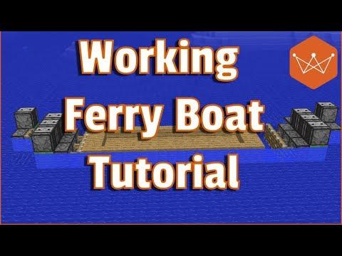 Minecraft Tutorial Working Ferry Boat