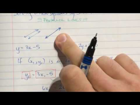 Solving Linear Systems by Substitution - Part 2 Parallel Lines