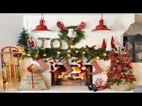 2017 Christmas Mantel Decorations 6