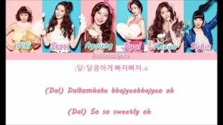Dalshabet (달샤벳) - Dal★Shabet - Member Coded Lyrics (Han/Rom/Eng) (Ft. BigTone)