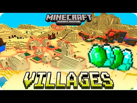 Minecraft PE Seeds - 4 Villages & 2 Temples Seed (EPIC LOOT) - 0.16.0 / 0.15.0 MCPE