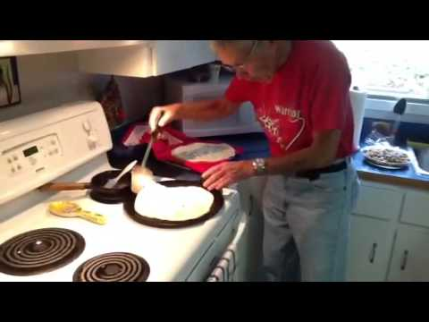 Granny and Grampa's Trini Roti Making