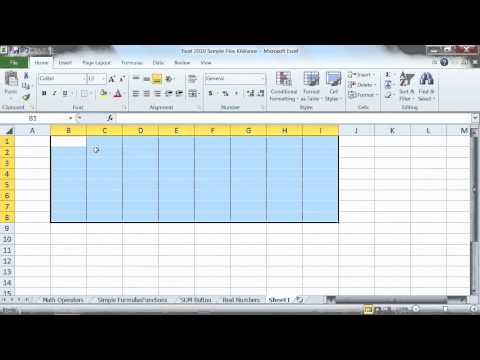 Microsoft Excel 2010 Tutorial: Selecting a Range of Cells | K Alliance