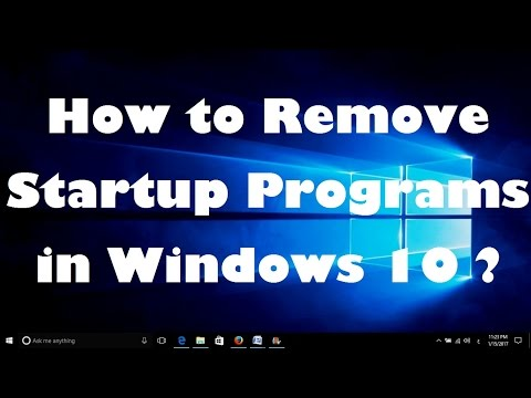 How to Remove Startup Programs in Windows 10 ?