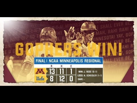 Highlights: Gopher Baseball Tops UCLA, Advances to NCAA Super Regional