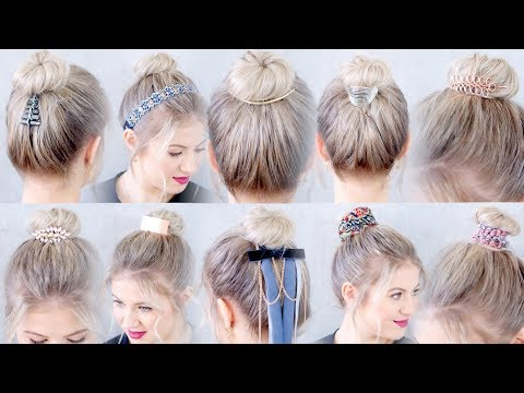 10 New Hairstyles Accessories For Buns and Top Knots | Milabu