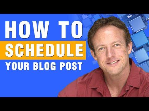 WordPress | How to Schedule a WordPress Blog Post
