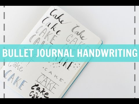 BULLET JOURNAL HANDWRITING   Quick & Easy