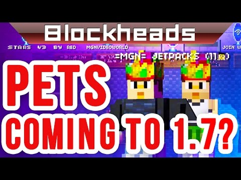 PETS coming to BLOCKHEADS 1.7!?