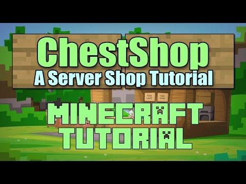 ChestShop Shop Setup Plugin Tutorial Minecraft 1.12