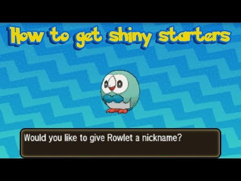 How to get Shiny Starter Pokémon in Pokemon Ultra Sun and Ultra Moon!!