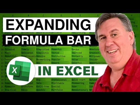 MrExcel's Learn Excel #411 - Expanding FormulaBar