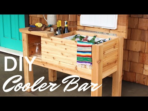 Free plans to build a Portable Deck Cooler Bar and Stand