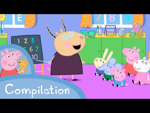 Peppa Pig Episodes - Learn with Peppa compilation - Cartoons for Children
