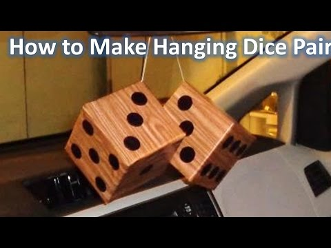 How To Make Hanging Dice Pair for Car