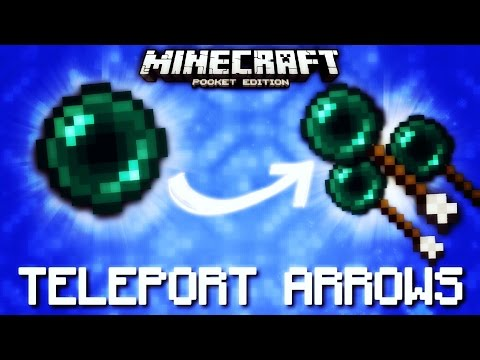 Minecraft Pocket Edition - TELEPORTING ARROWS [Command Blocks]