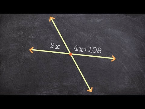 Finding the value of x using supplementary angles - Free Math Videos
