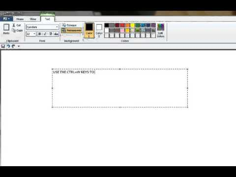 Open Resizing and Skew Dialog Box in Ms Paint Using Short Cut
