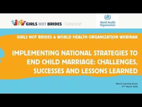 Implementing national strategies to end child marriage