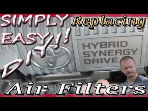 DIY 3rd Gen Toyota Prius Engine & Cabin Air Filter Replacement 2010-2015 model year