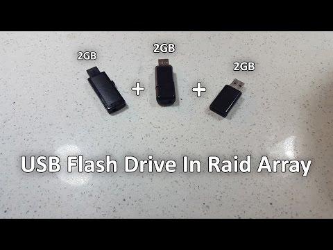 Low End Tech - USB Flash Drive Raid Array using Raspberry PI 2