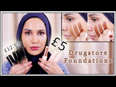 Drugstore Foundations Review | £5 VS £13 | Makeup Revolution + Milani | Amena