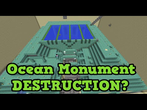 Minecraft Xbox - Ocean Monument Destruction & Guardian Farm?
