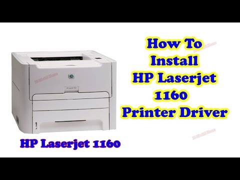 How To Install Hp Laserjet 1160 Printer Driver For Windows 7 64 Bit