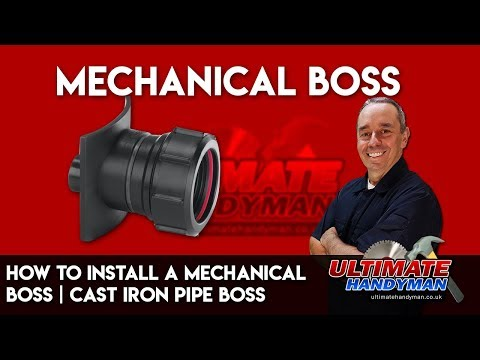 How to install a mechanical boss   cast iron pipe boss