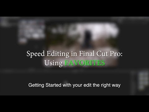 Favoriting Clips to Edit Faster | Speed Editing in Final Cut Pro - the boring basics
