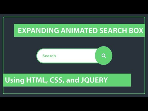 How to create the Expanding Animated Search box - CSS Search box - Expandable Search box