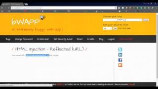 medium + high] bWAPP HTML Injection Stored for medium level