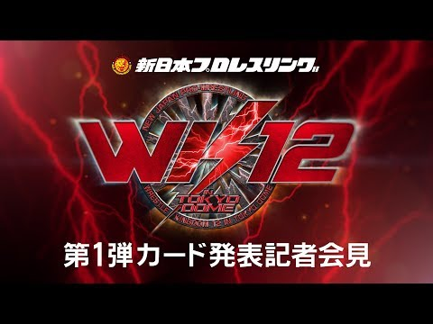 WRESTLE KINGDOM 12 in Tokyo dome  Press Conference/東京ドーム 記者会見