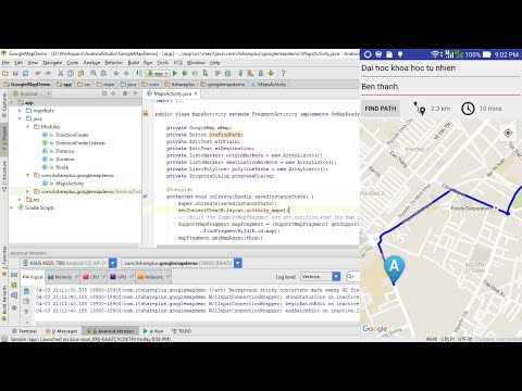 Basic Google Maps API Android Tutorial + Google Maps Directions API