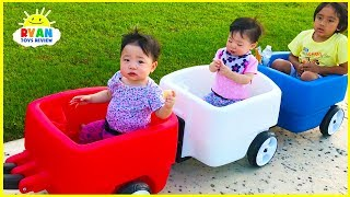 Step2 Choo Choo Wagon going to kids outdoor playground with Ryan ToysReview!