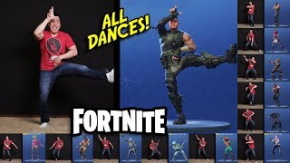 dad does all the fortnite dances fortnite dance challenge in real life - every fortnite dance in real life