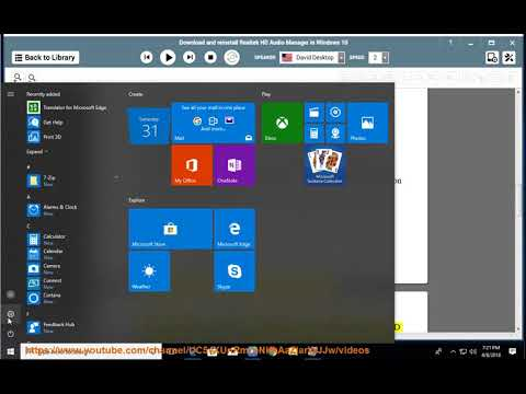 Download & reinstall Realtek HD Audio Manager on Windows 10