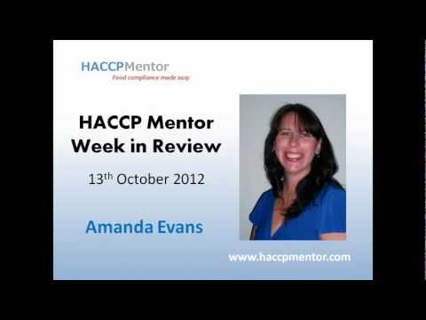 HACCP Mentor Week in Review - How to verify your cleaning