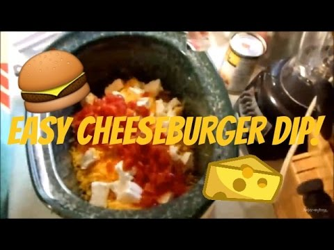 SUPER EASY CROCK POT CHEESEBURGER DIP!