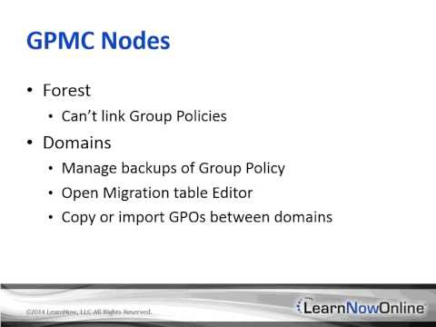 Windows Server 2012 Admin: Group Policy Tutorial Video: Active Directory Group Policy